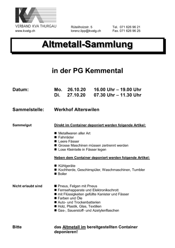 Altmetall-Sammlung